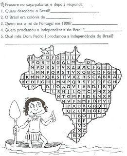 ATIVIDADES SOBRE A HISTÓRIA DO BRASIL PARA 3° 4° 5° ANO