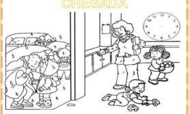 Cartazes de rotina na escola infantil