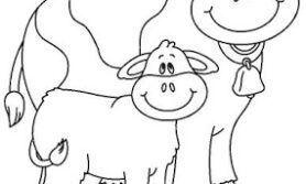 Desenho de Vaquinhas para colorir e imprimir