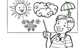 Desenhos sobre As Estações do ano para Colorir e Imprimir