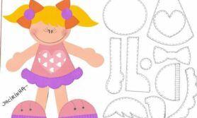 Moldes de Bonecas em EVA Para decorar cadernos e os cenários de sala de aula