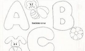 Moldes para alfabeto ilustrado