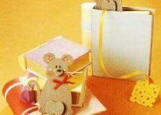 Ratinho, marcador de página com molde - Atividades Pedagógicas