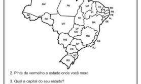 Atividades sobre estados, capitais e regiões do Brasil – Geografia