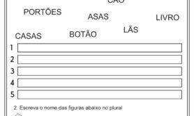 Atividades sobre plural – Língua Portuguesa
