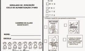 Simulado do ciclo de alfabetização 3º ano