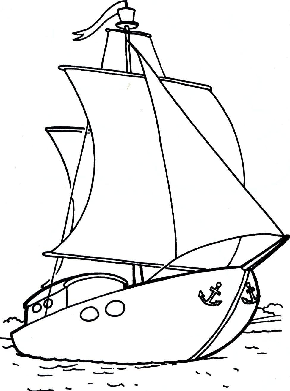 Desenhos de barco para colorir