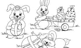 Desenhos de coelho da pascoa para colorir