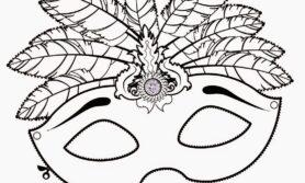 Desenhos de mascara de carnaval para colorir