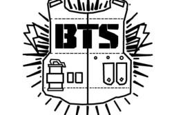 Desenhos do simbolo bts para colorir