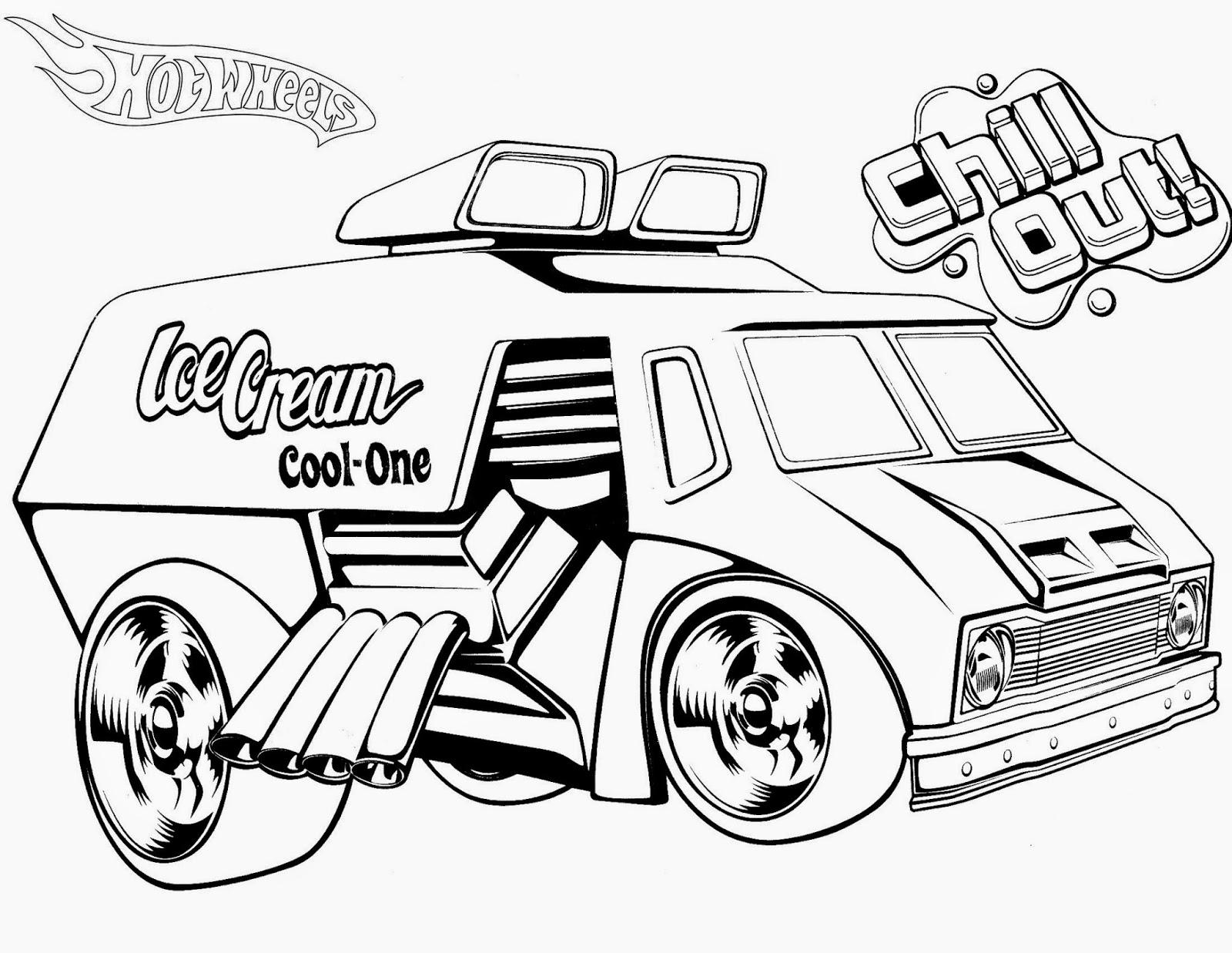 Desenhos de hot wheels para colorir