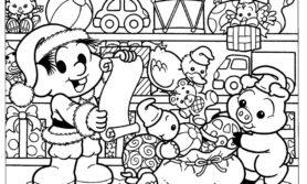 Desenhos natalinos para colorir