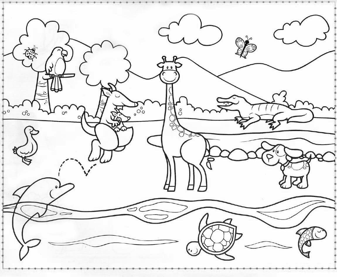 Desenhos para colorir paisagens