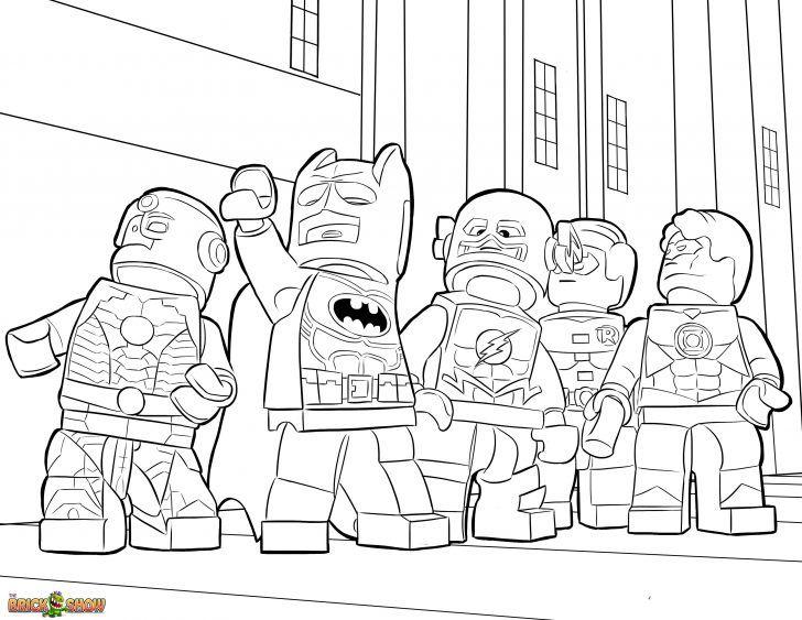 Desenhos da liga da justiça lego para colorir