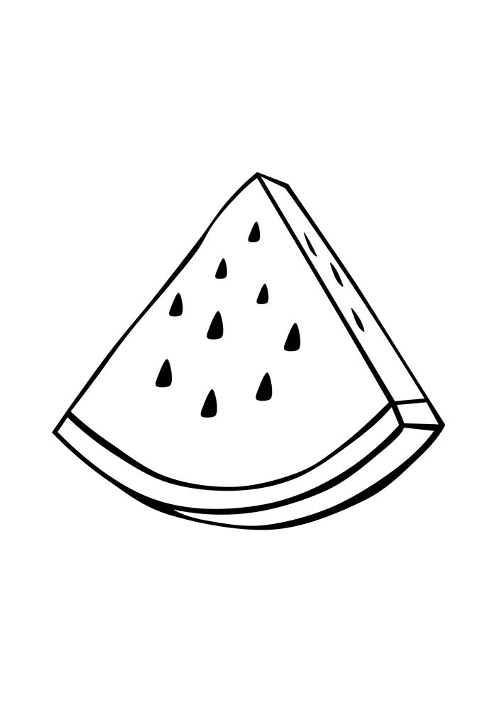 Desenhos de melancia para colorir