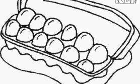 Desenhos de ovo para colorir