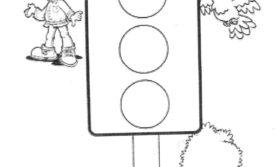 Desenhos de semáforo para colorir