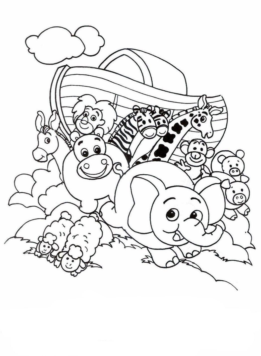 Desenhos da arca de noé para colorir