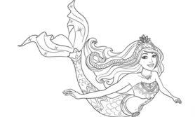Desenhos da barbie sereia para colorir
