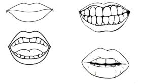 Desenhos de boca para colorir