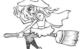 Desenhos de bruxa para colorir