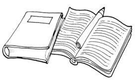 Desenhos de caderno para colorir