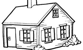 Desenhos de casinha para colorir