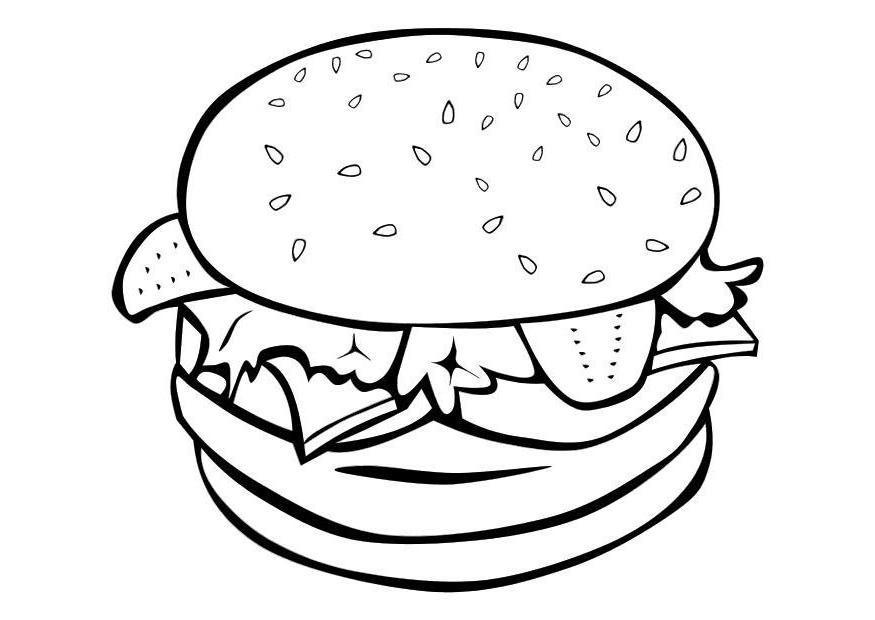 Desenhos de comida para colorir