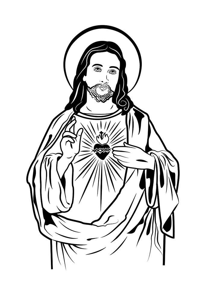 Desenhos de jesus para colorir