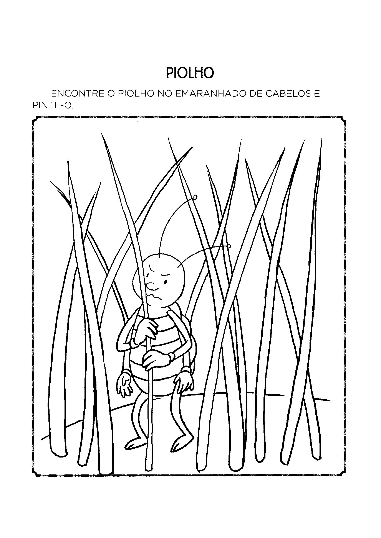 Desenhos de piolho para colorir