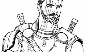 Desenhos do thor para colorir